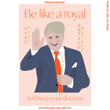 Illustratie voor Stay Sane Stay Stay Safe: Be like a royal