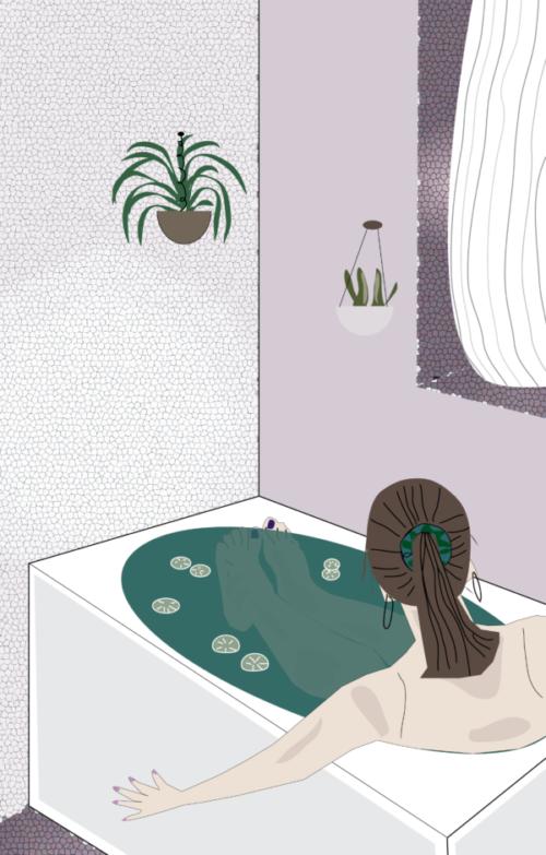 Vrouw in bad - Lilian van Ooijen